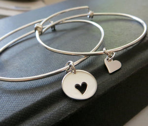 mother two daughter bracelet bangle - RayK designs