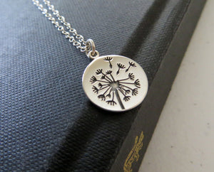 Mother daughter jewelry, Dandelion charm necklace, sterling silver, gift for mothers day from daughter - RayK designs
