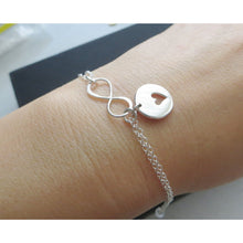 Load image into Gallery viewer, Mother daughter infinity heart bracelet set of 2 - RayK designs