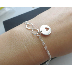 Mother daughter infinity heart bracelet set of 2 - RayK designs