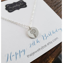 Load image into Gallery viewer, Birth flower necklace - RayK designs
