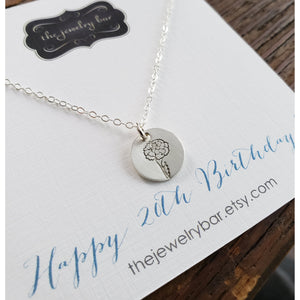 Birth flower necklace - RayK designs