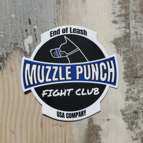 Muzzle Punch Fight Club Sticker
