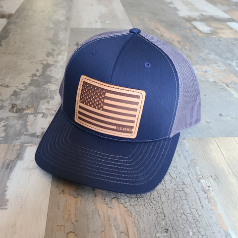 Flag Leather Patch Snapback