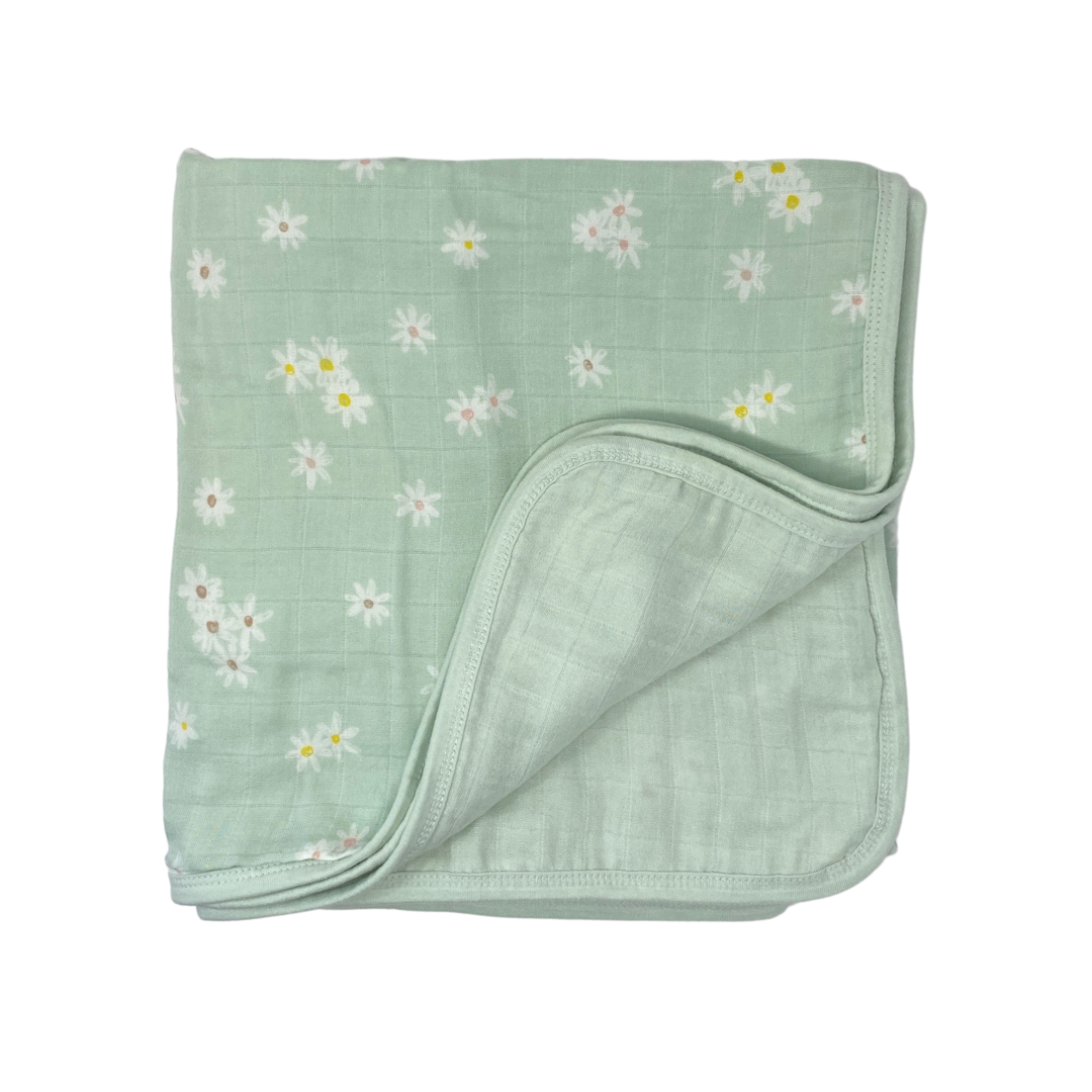 Toddler Muslin Blanket - Daisy