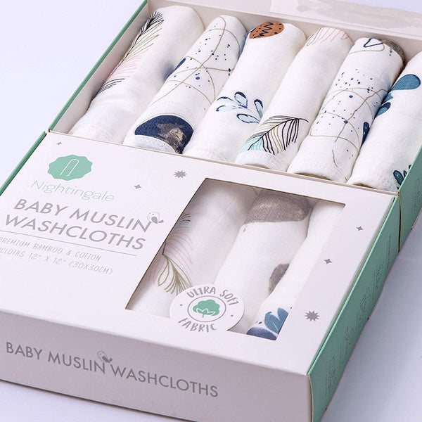 Bamboo Muslin Washcloths [Feather-Galaxy-Plant]