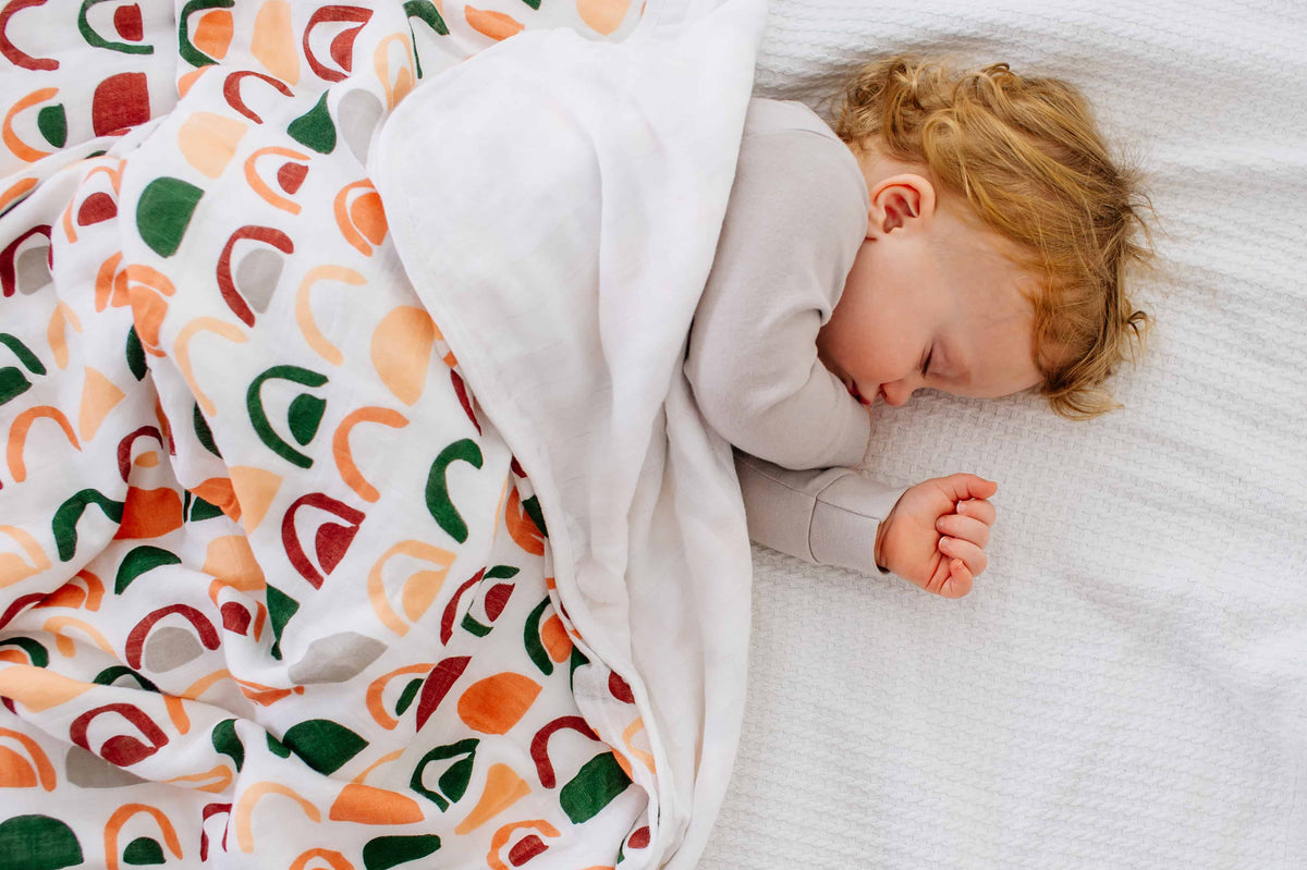 Toddler Muslin Blanket - Rainbow