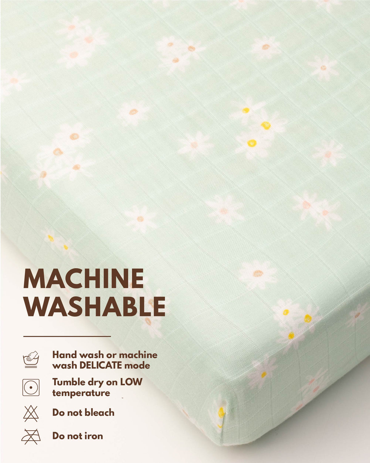 Fitted Crib Sheet - Daisy