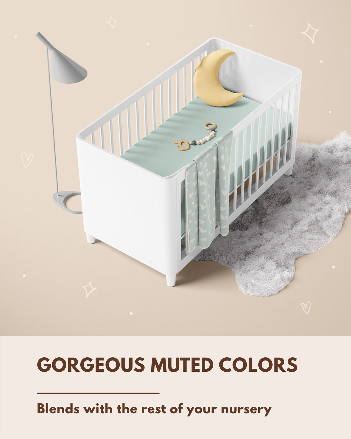 Fitted Crib Sheet - Misty Rain