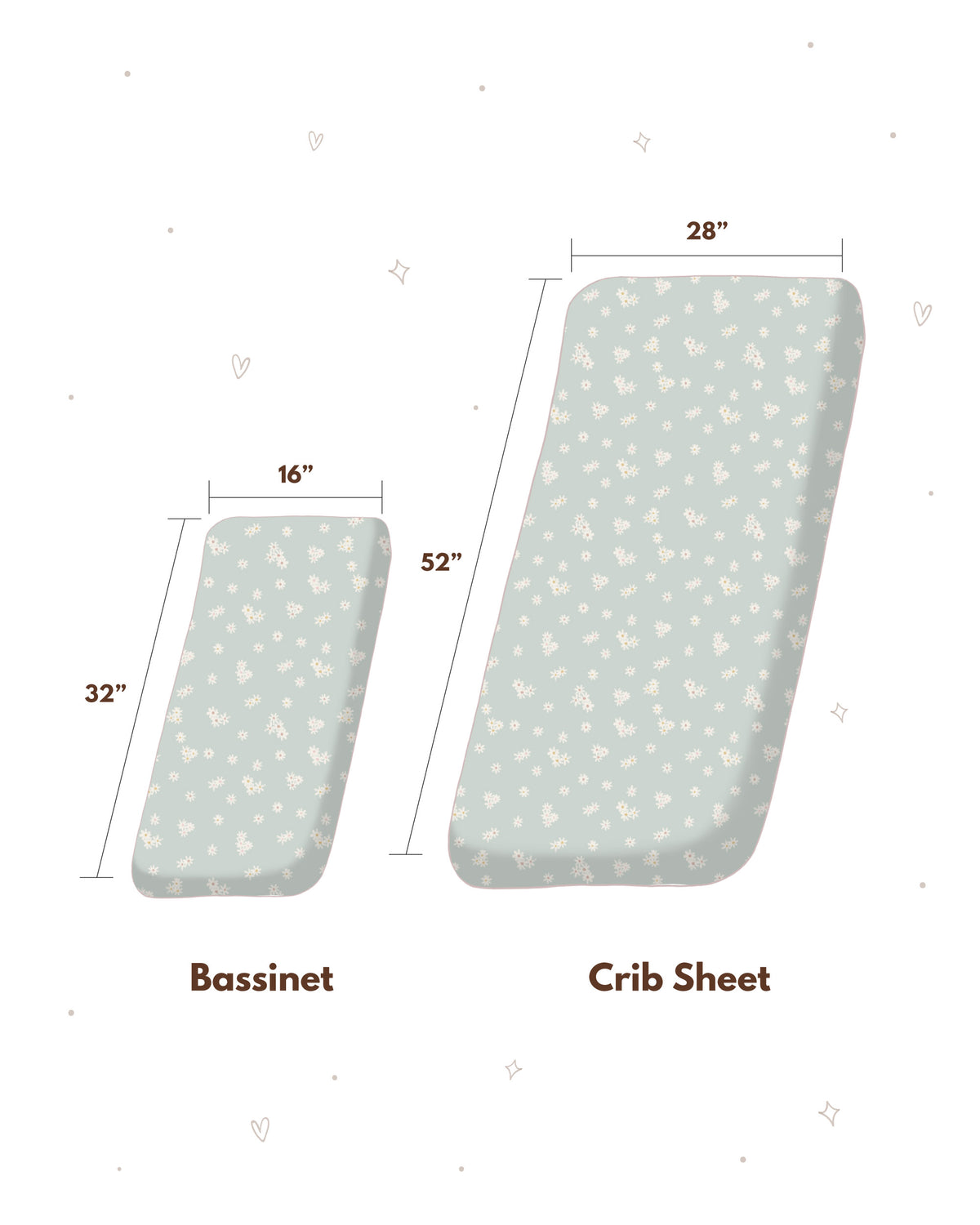 Bassinet Sheet - Daisy