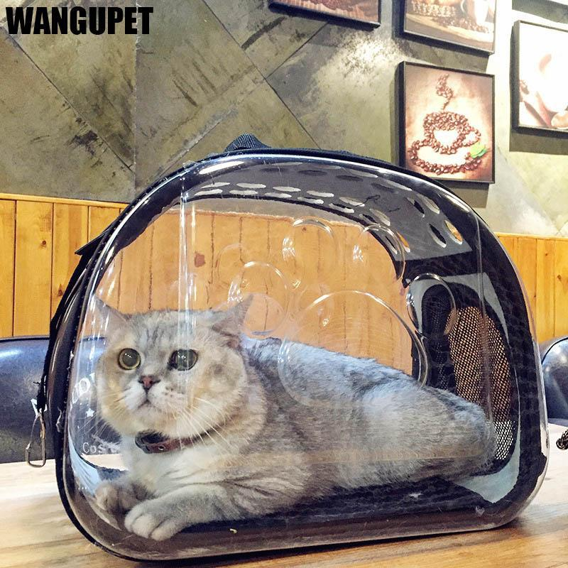 Transparent Folding Cat And Small Dog Backpack Breathable