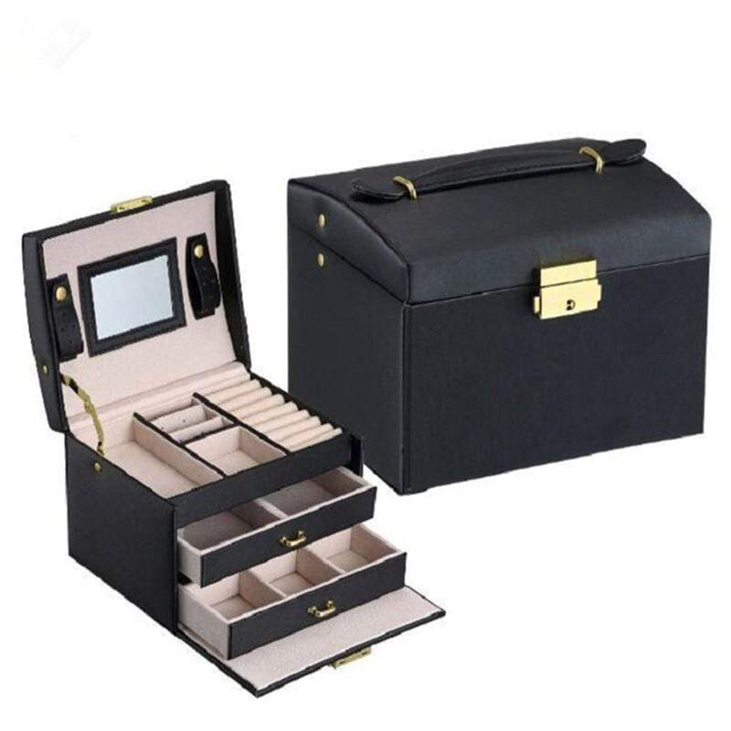 Liwa Street makeup accessories Jewelry Packaging Box Casket Box For Jewelry Exquisite Makeup Case Jewelry Organizer Container Boxes Graduation Birthday Gift