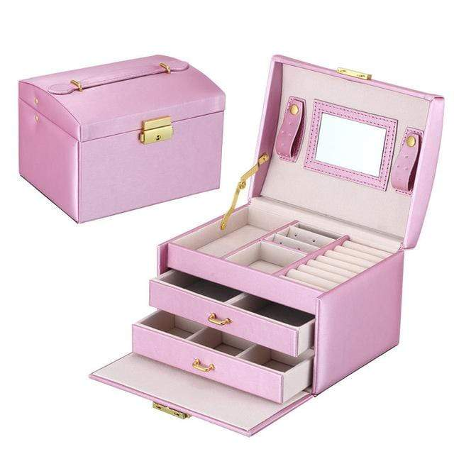 Liwa Street makeup accessories Purple / United States Jewelry Packaging Box Casket Box For Jewelry Exquisite Makeup Case Jewelry Organizer Container Boxes Graduation Birthday Gift