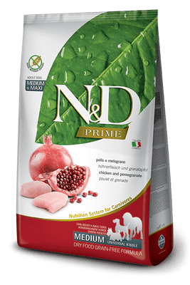 N&D GRAIN FREE Adult Medium & Maxi- piščanec in granatno jabolko 12kg
