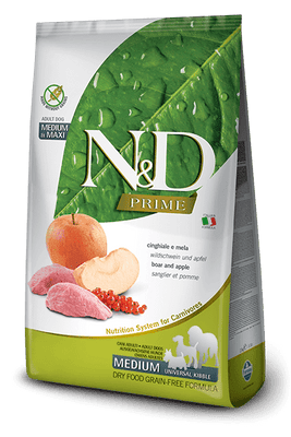 N&D GRAIN FREE Adult Medium & Maxi- merjasec in jabolko 12kg
