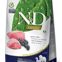 N&D GRAIN FREE Adult Medium & Maxi- jagnjetina in borovnica 2.5kg
