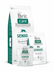BRIT CARE SENIOR ALL BREED- jagnjetina & riž