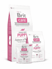 BRIT CARE PUPPY GRAIN FREE- losos & krompir