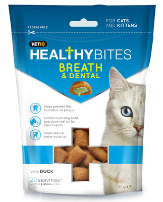 M&C HEALTHY BITES BREATH & DENTAL priboljški za mačke 65g