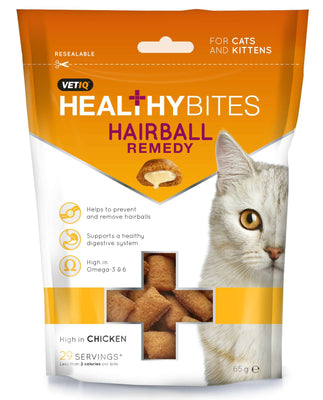 M&C HEALTHY BITES HAIRBALL REMEDY priboljški za mačke 65g