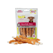 WANPY TRULY RAWHIDE STICK WITH CHICKEN priboljški za pse 85g