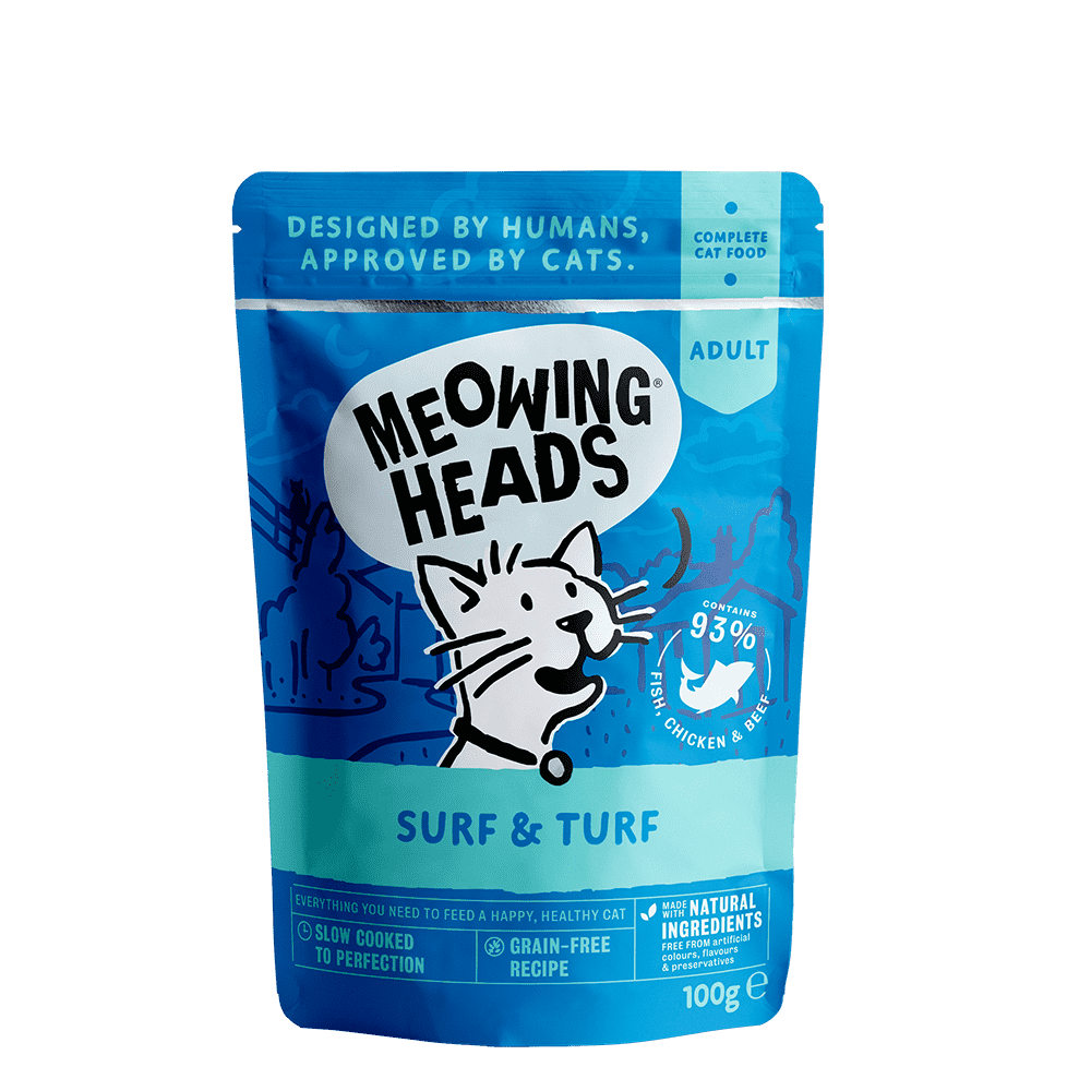 MEOWING HEADS surf & turf 100 g