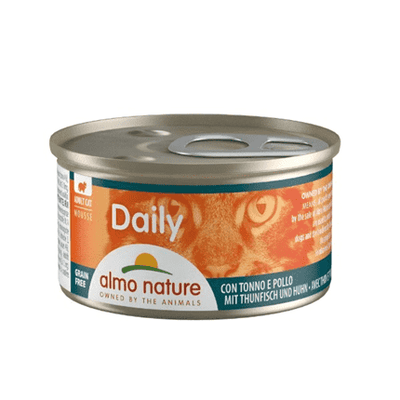 ALMO NATURE DAILY Mousse tuna in piščanec 85 g