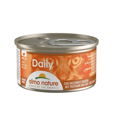 ALMO NATURE DAILY koščki purana in račke 85 g