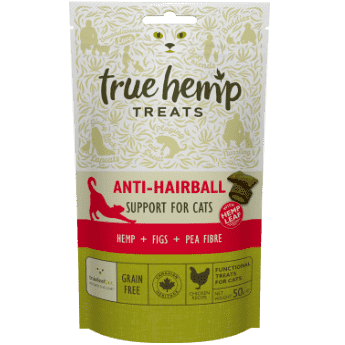True Hemp priboljški za mačke ANTI HAIRBALL 50g