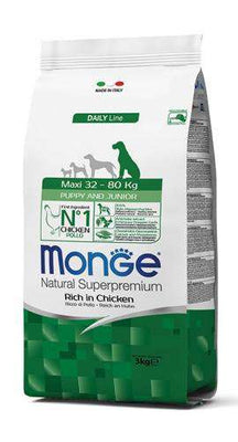 MONGE NATURAL PUPPY & JUNIOR MAXI