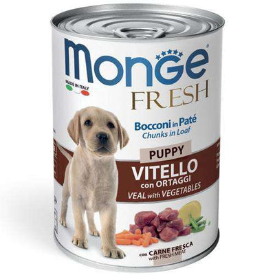MONGE FRESH PUPPY- teletina in zelenjava 400g
