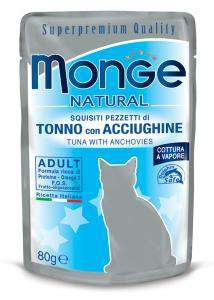 MONGE NATURAL CAT pacifiška tuna in sardon 80g