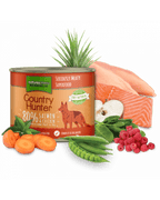 Natures Menu- Country Hunter pločevinka losos&piščanec&maline 600g