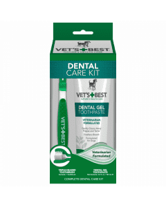 Vet`s Best Dental Care set encimski gel & zobna ščetka