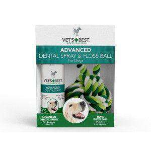 VET`S BEST advanced dentalno pršilo 120ml+igračka (nitka)