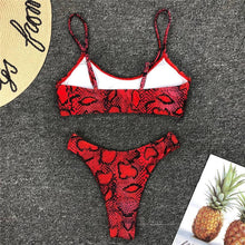 Load image into Gallery viewer, Red Snake Bikini Set - Activeland