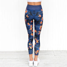 Load image into Gallery viewer, Orange Leaves Legging - Yoga Leggings, Fitness Pants, Active Pants, Printed Legging.