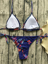 Load image into Gallery viewer, Blue Floral Bikini Set - Activeland