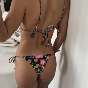 Black Floral Bikini Set - Activeland