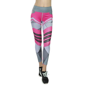 Active Leggings - Yoga Leggings, Fitness Pants, Active Pants, Geometric Legging.
