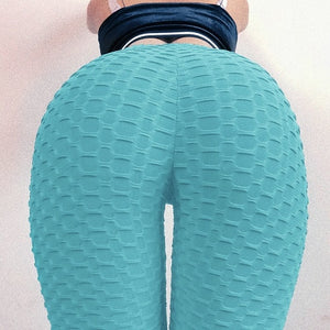 Light Blue Push-Up Fitness Legging - Yoga Leggings, Fitness Pants, Active Pants, Casual Legging, Sexy Booty.