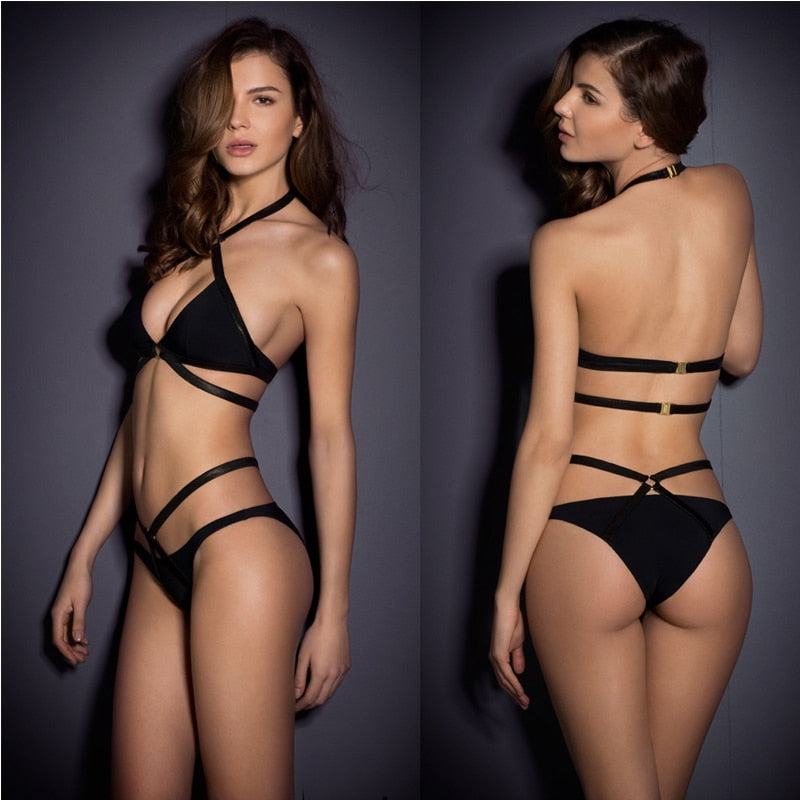 Backless Bandage Bikini Set - Buy Swimsuit online