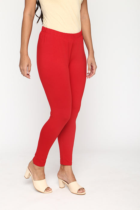 Womens Bright Red Leggings