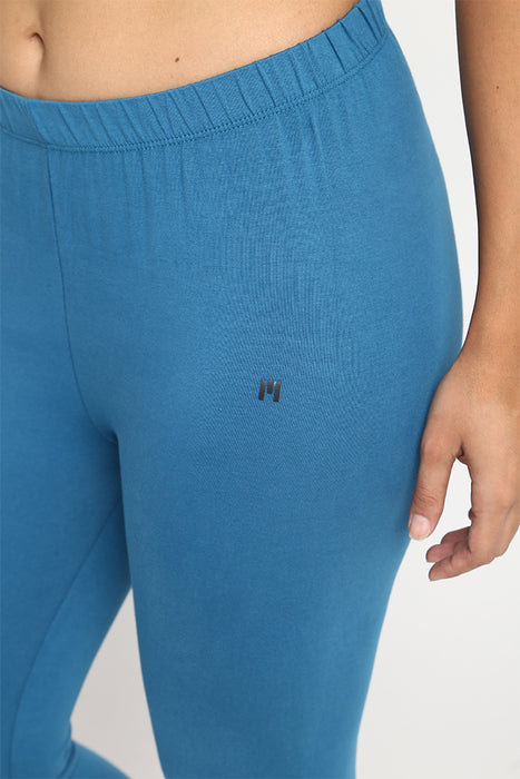 Womens Dull Blue Leggings