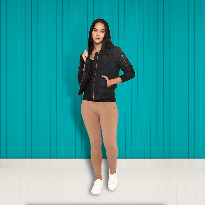 Women Light Brown Leggings