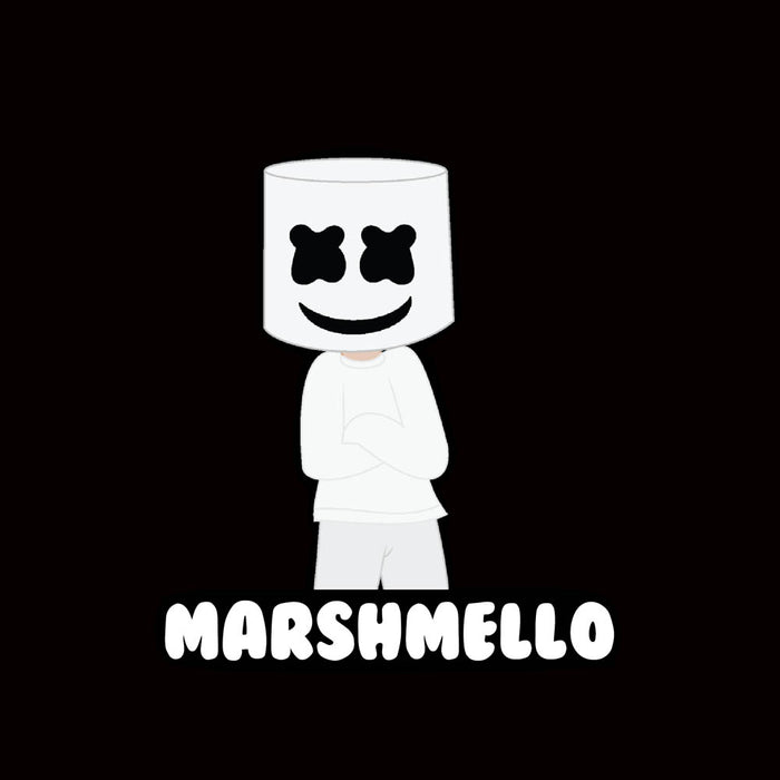 1721-marshmello-2-men-half-t-shirt