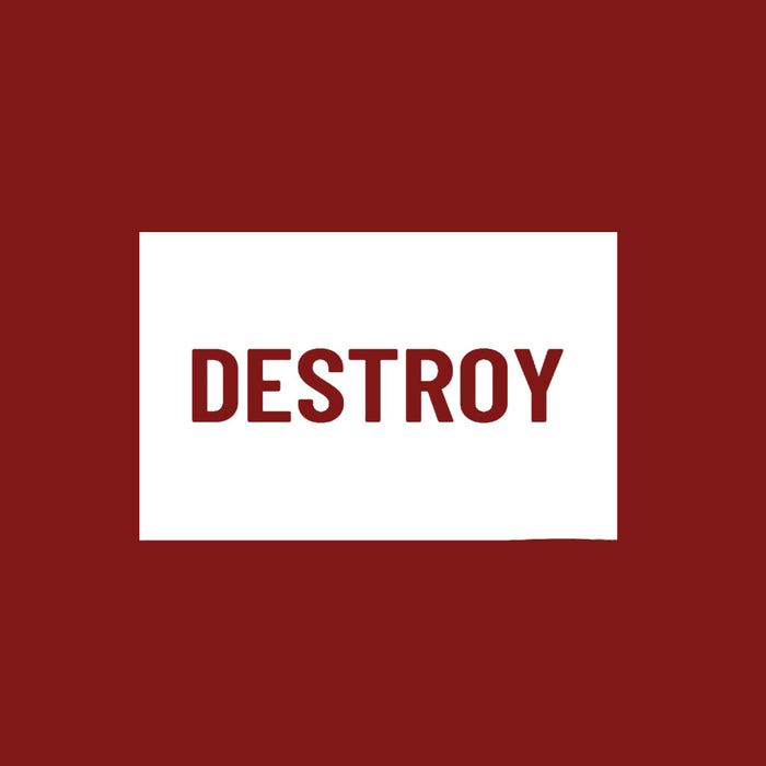 342-destroy-men-half-t-shirt
