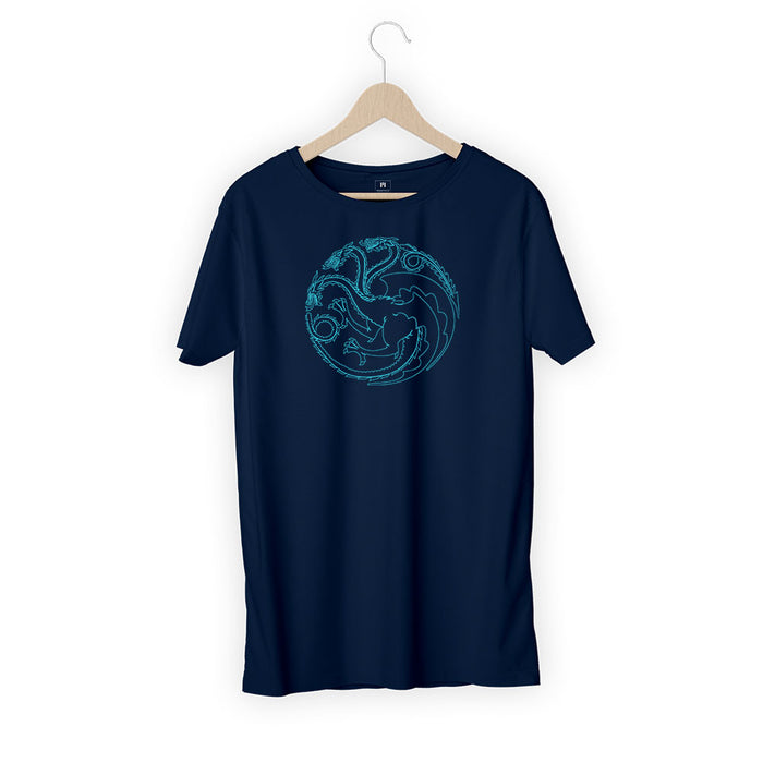47-house-logo-men-half-t-shirt