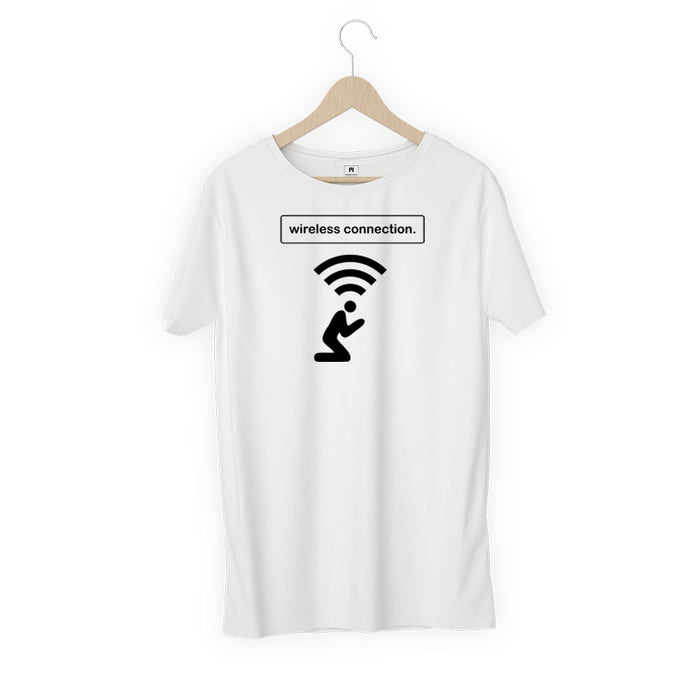 284-wireless-connection-men-half-t-shirt
