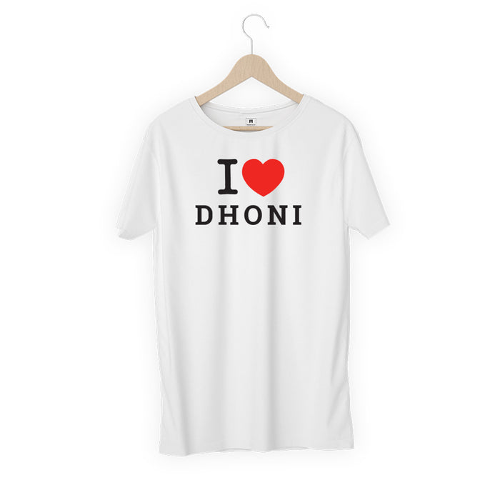 622-i-love-dhoni-men-half-t-shirt